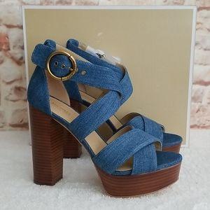 New  Michael Kors Leia Platform Sandals